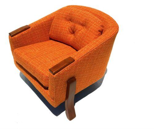 mid century danish modern tripod three legged chair restored walnut german?
