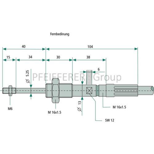 WALVOIL Seilzug 750 mm V-Nr 4CAV700750