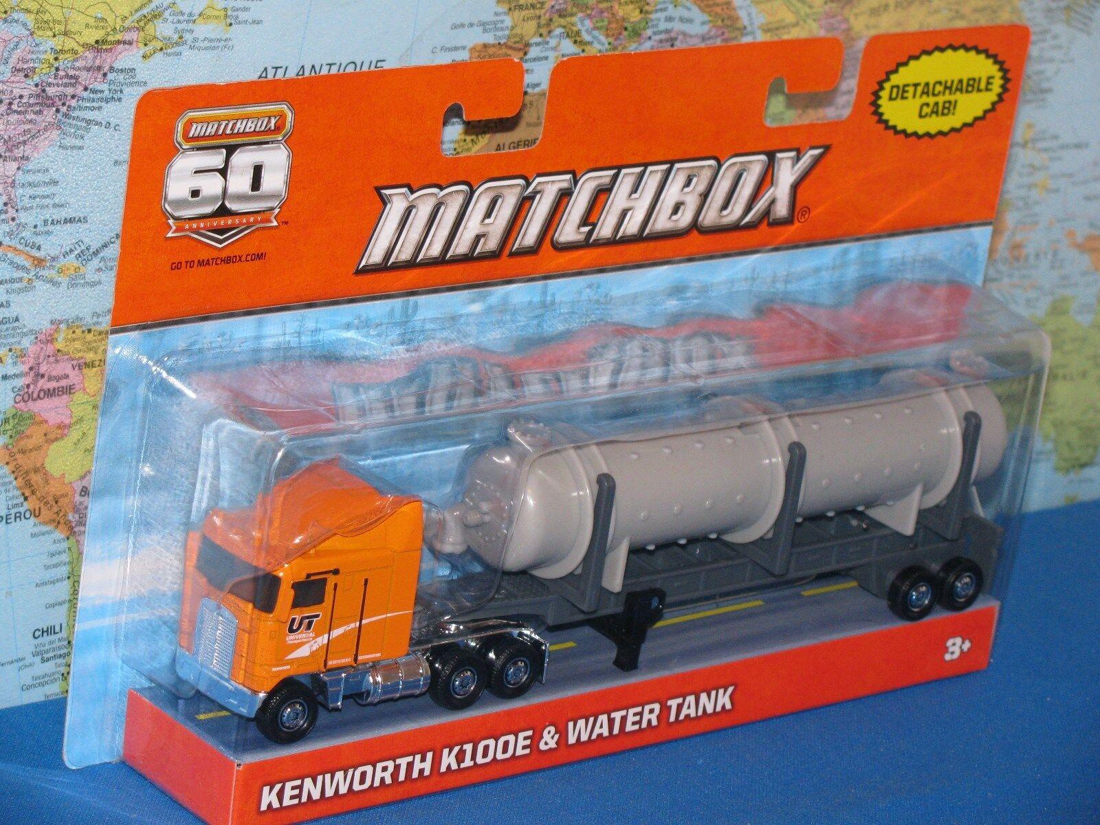 MATCHBOX KENWORTH K100E & WATER TANK 60th ANNIVERSARY DETACHABLE CAB 9  (23cm)