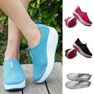 Women-Casual-Sport-Shoes-Walking-Platform-Breathable-Mesh-Running-Wedges-Shoes