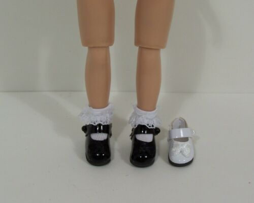 "Debs BLACK Patent Mary Jane Doll Shoes For Tiny 8/"" Ann Estelle 8/"" Betsy McCall"
