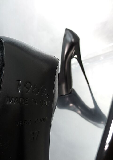 MADE IN IN IN ITALY UNIQUE SEXY HIGH HEEL CD2 PLATEAU PUMPS SCHUHE LEDER SCHWARZ 43 1cd6d6