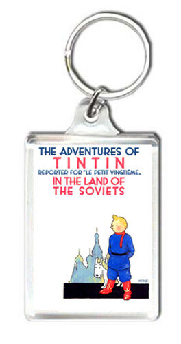 TINTIN BOOK COVER KEYRING CHOOSE YOUR MODEL LLAVERO