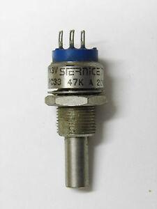 1 POTENTIOMETRE 3W ETANCHE PE30AL DE 1K VISHAY SFERNICE axe long métal 6mm PRO