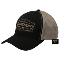 Browning Two Tone Atlus Hat Ball Cap Buckmark Logo Shadow Black