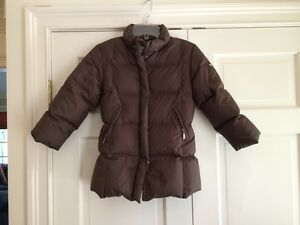EDDIE PEN Girls Brown 100% Down Jacket Puffer Coat Sz 6 7 EUC | eBay
