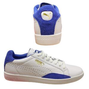 Puma cuero con de en azul mujer Match blanco Zapatillas cordones cordones de para Q2 con Lo y 357543 deporte Basic w8qXEp