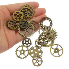 40pcs Vintage Red Tone Alloy Wheel Gear Pendants Charms Jewelry Findings 39772