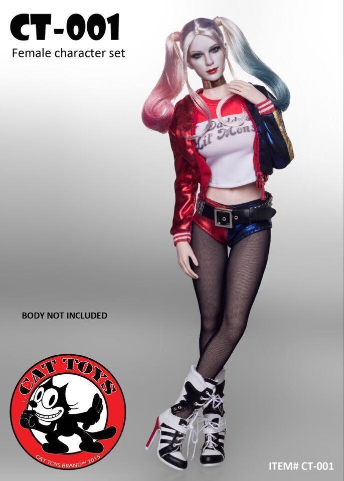 1 6 Gato Juguetes CT-001 Hembra Accesorio suicidio escuadrón Harley Quinn con Phicen S07C