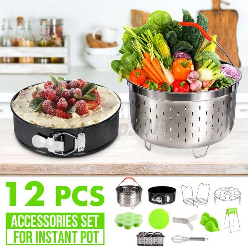 12Pcs Pressure Cooker Accessories Set Steamer Basket Egg Rack For Instants Pots