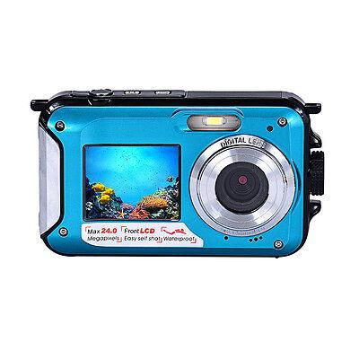 Double Screen Waterproof Camera 24MP 16x Digital Zoom 1920*1080 CMOS Dive Camera