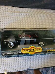 1964 Chevy Impala BLACK 1:18 Ertl American Muscle 7838