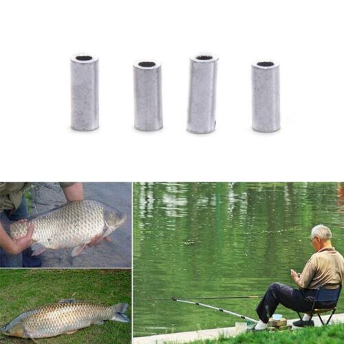 100pcs//bag Aluminum fishing line Crimp sleeve copper tube 1.0mm-2.0mm MW