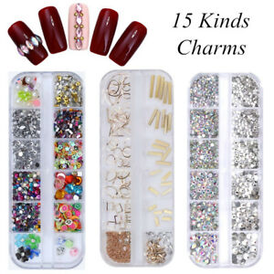 3D-Nail-Art-Ongles-Strass-Rivets-Resine-Glitter-Cristal-Tips-Manucure-Decoration
