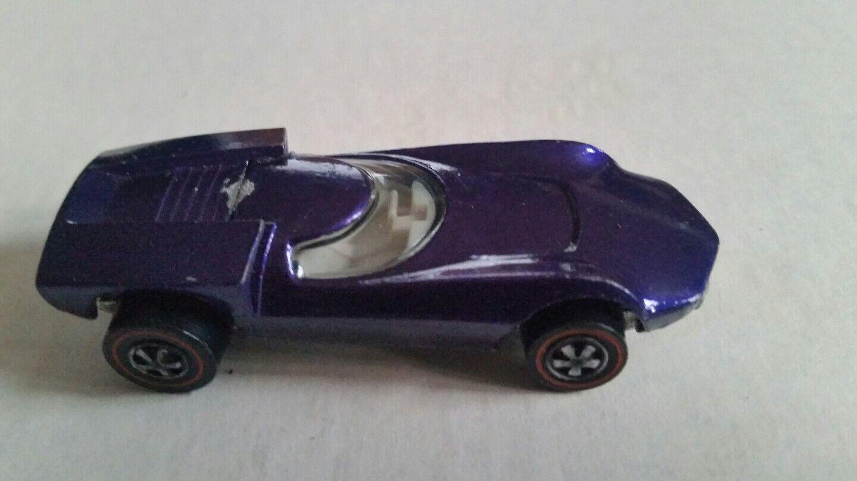 1969-Turbofire-hot Wheels-RARE-ORIGINAL Suelto rojoline-muy difícil de encontrar-Púrpura Vari -