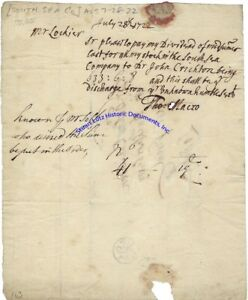 South-Sea-Company-document-1722-re-sending-divident-payment-to-Londoner