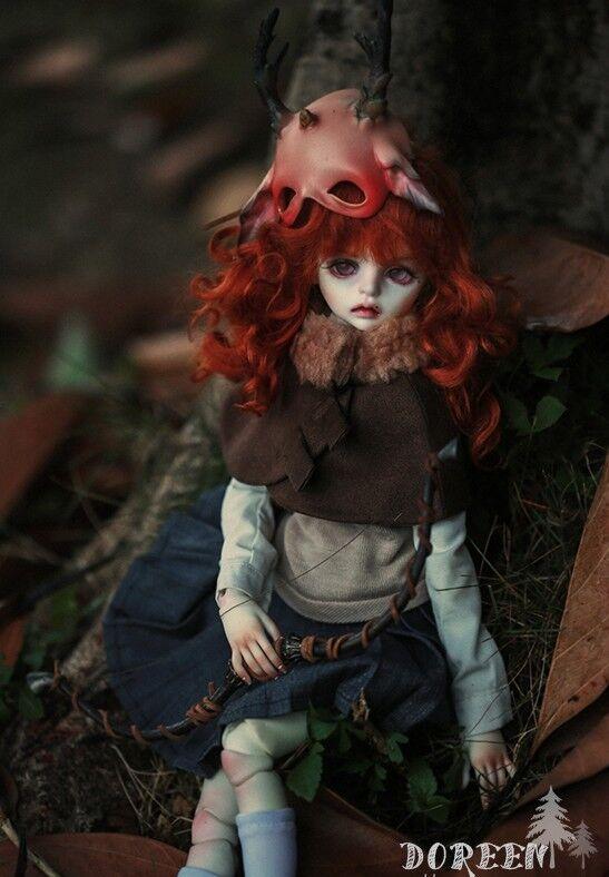 Doreen Completa Conjunto + Máscara + cuerpo Make-Up Girl dollzone 1 4 Tamaño Mini Super Dollfie BJD Muñecas 42 Cm