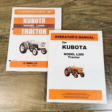 Kubota L285 Tractor Manual Set Parts Catalog Operators Owners Book Assembly
