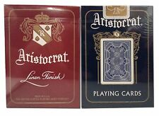 Lot 2 Aristocrat One Red and One Blue 727 Bank Note Playing Cards Decks Bicycle