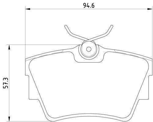 Renault Trafic Mk3 El Fl Jl 2001-2015 Vetech Rear Brake Pad Set