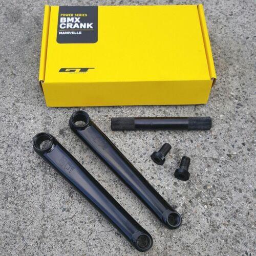 GT POWER SERIES CHROMOLY CRANKS BLACK OR CHROME BMX BIKE CRANK SE HARO REDLINE