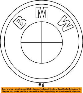 BMW-OEM-07-13-328i-Trunk-Lid-Emblem-Badge-Nameplate-51147146051