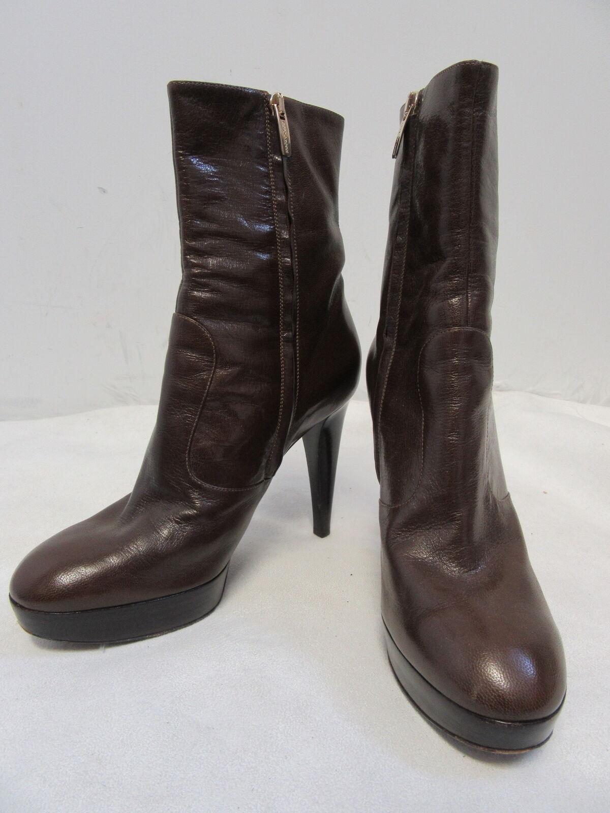 l'intera rete più bassa SERGIO ROSSI Marrone leather leather leather platform zip ankle stivali sz I 38.5  US 8.5  prezzi equi