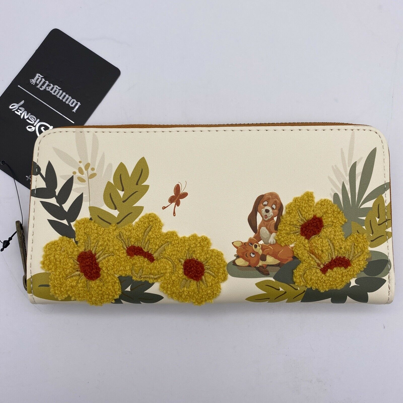 Loungefly Disney Wallet The Fox and the Hound Floral Zip Clutch