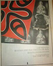 "CAT STEVENS Buddha & The Chocolate Box 1974  UK Poster size Press ADVERT 16x12"""