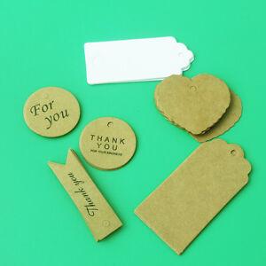 1000 pcs Kraft Paper Gift Tags Wish Bottles Wedding Homemade Craft  DIY Label