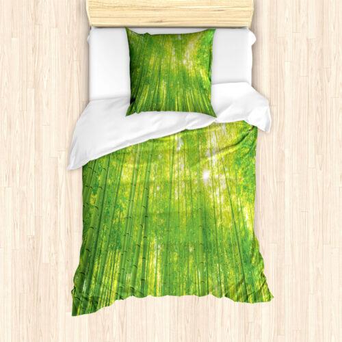 Bambus Bettwäsche Set Exotische Tiere PflanzenWeicher Microfaserstoff