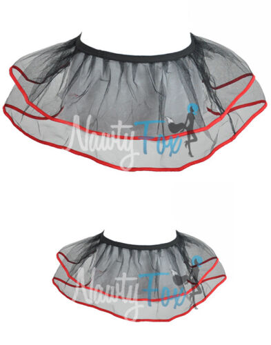 Black With Red Stripe Ballet Dance Petticoat Tutu Skirt Costume One Size S-L