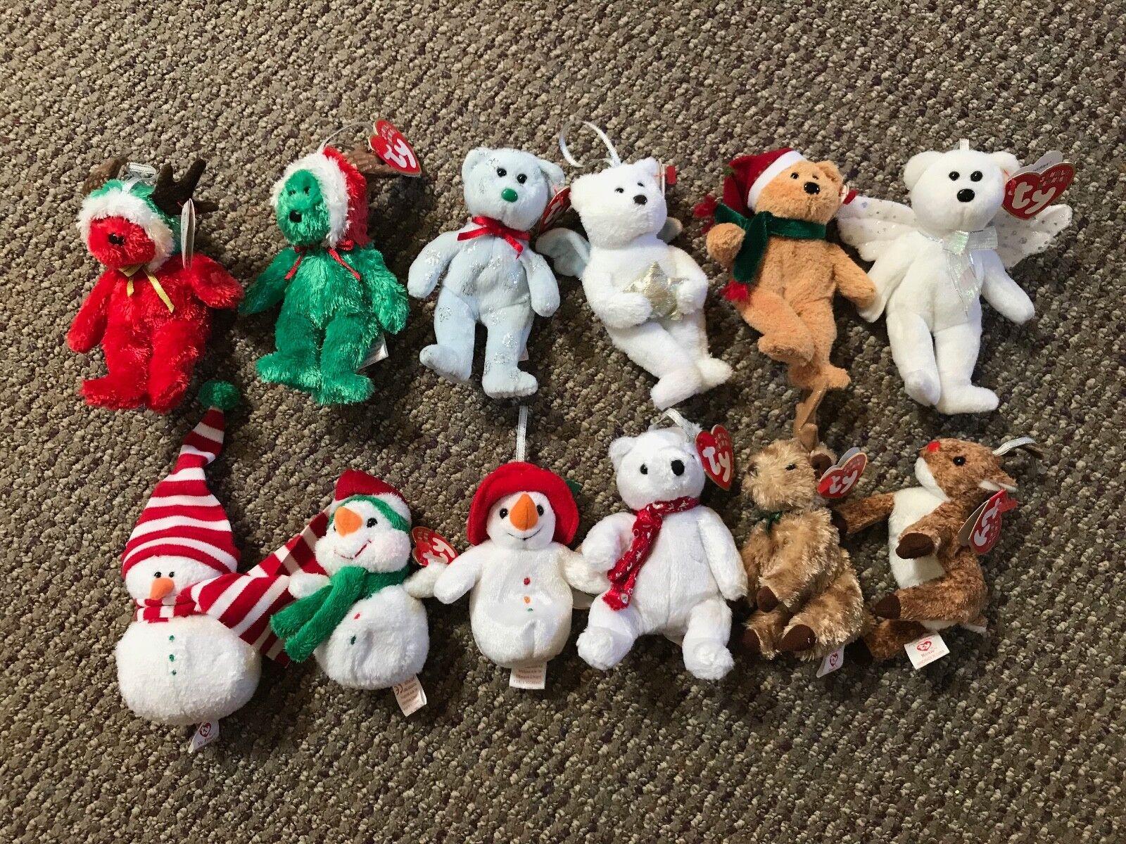 Ty beanie babys jingle beanies ornamente 28 gemeinden festgelegten 12  trägt.