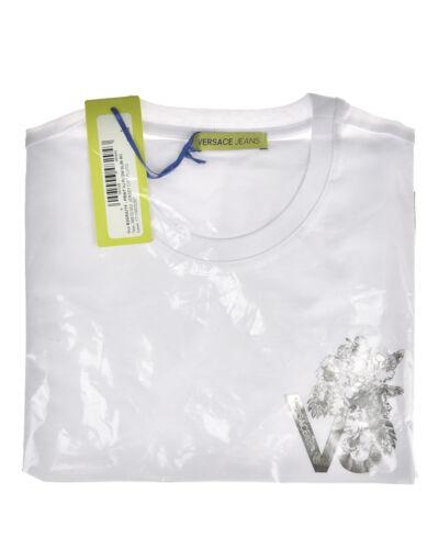 Coton Slim shirt Hommes Shirt Sweat T B3gra77f 3 T Blanc Versace 1qIYwPqg