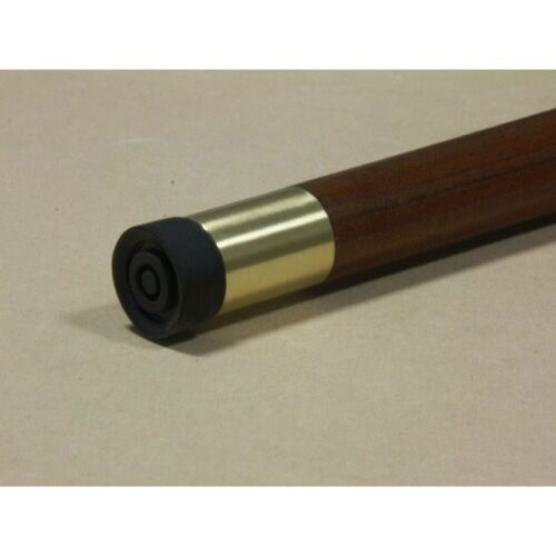 """Brass Hiking Staff Tip Fit 1/"""" or Larger Stick or Walking Cane Brass Ferrule QA16"""