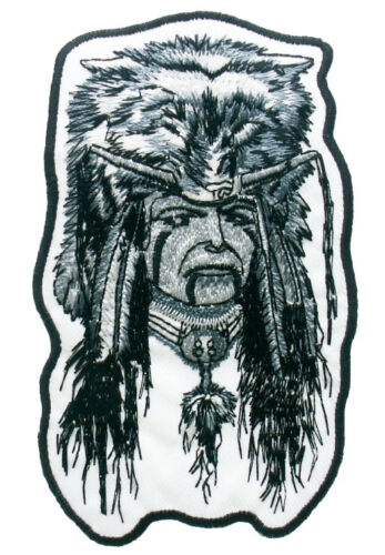 Indian Chief Native American  Embroidered Sew or Iron on Patch Badge Patches