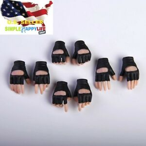 "1//6 Scale Female Hand with Black Gloves For 12/"" Female Hot Toys Figure"