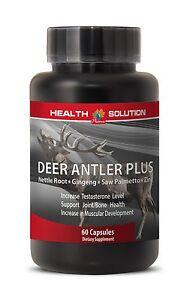 Extreme Muscle Growth Pills - Deer Antler Plus 550mg - Elk Velvet Extract 1B