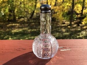 Heisey-Punty-amp-Diamond-Point-Cologne-Bottle-w-Sterling-Top-Rare