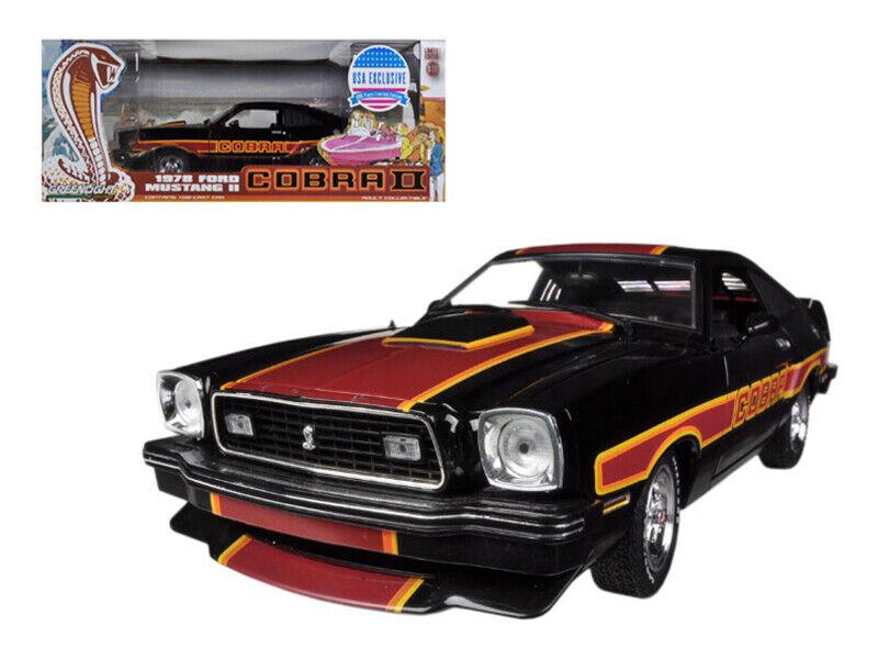 perfecto verdelight 1 18 Gratis Wheelin película 1978 1978 1978 Ford Mustang II Cobra II Negro 12891  cómodo