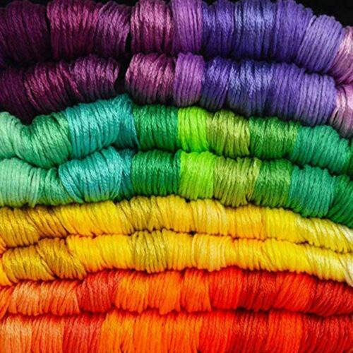 50 Multi Colors Cross Stitch Cotton Embroidery Thread Skeins Set 1 Sewing G0W7