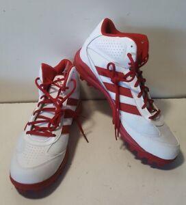 b556d387e3ce NEW Adidas Turf Hog LX Mid White/Red Football Cleats C76463 | eBay