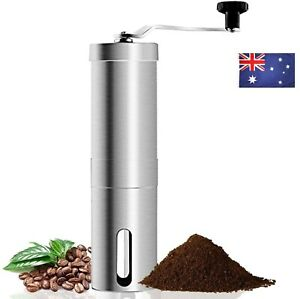 Manual Coffee Mill Portable Home Kitchen Travel Stainless Steel Bean Grinder