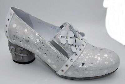 SIMEN Pumps Schuhe Damen Leder weiß silber 36 37 38 39 40 41 Neu 4948 | eBay