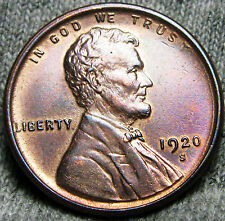 1920-S Lincoln Cent Wheat Penny --- STUNNING DETAILS --- #N884
