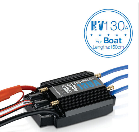 Hobbywing SEAKING 130A HV Waterproof ESC with Water Cooling for RC Racing Boat