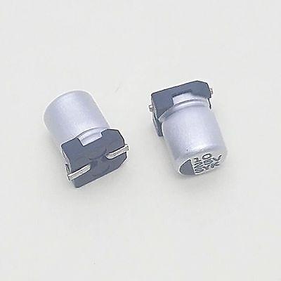 50pcs 10UF 10mfd 16V 4 x 5mm SMD Solid Aluminum Electrolytic Capacitors