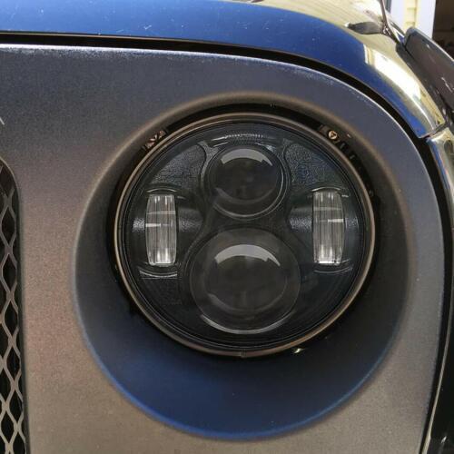 "Fit 7/"" JK Headlight Mounting Ring Trim Bracket for 2007-2018 Jeep JK Wrangler 2x"
