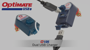 TecMate OptiMate USB O-105 Motorbike Dual Battery Charger suit some BMW