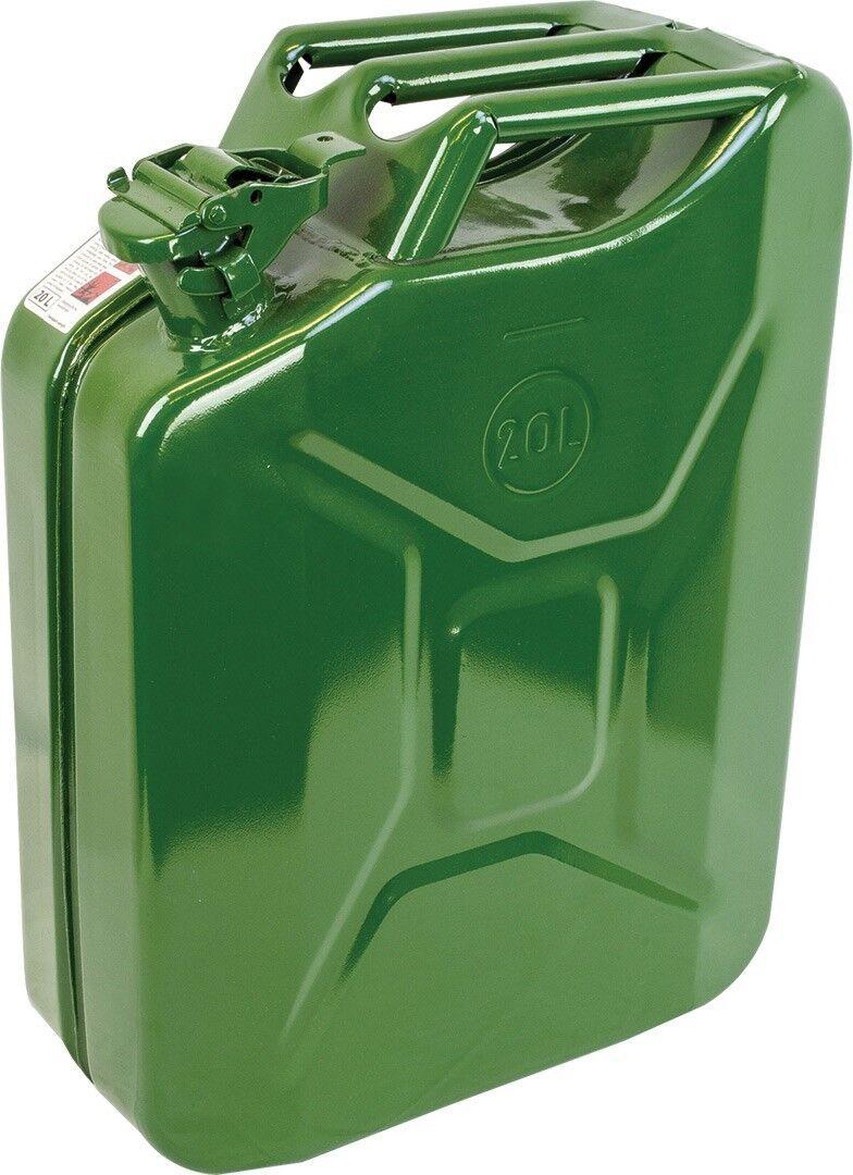 Acero tradicional bidón 20 litros verde oliva con tapa con cierre hermético